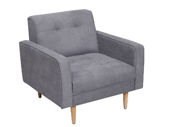 Dacron Fleece Linen Fabric Sofa / Living Room Couches Long Life Warranty