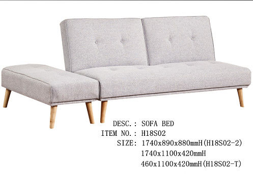 Simple Ottoman Pure Foam Filling Functional Sofa Bed For Bedroom 460 * 1100 * 420