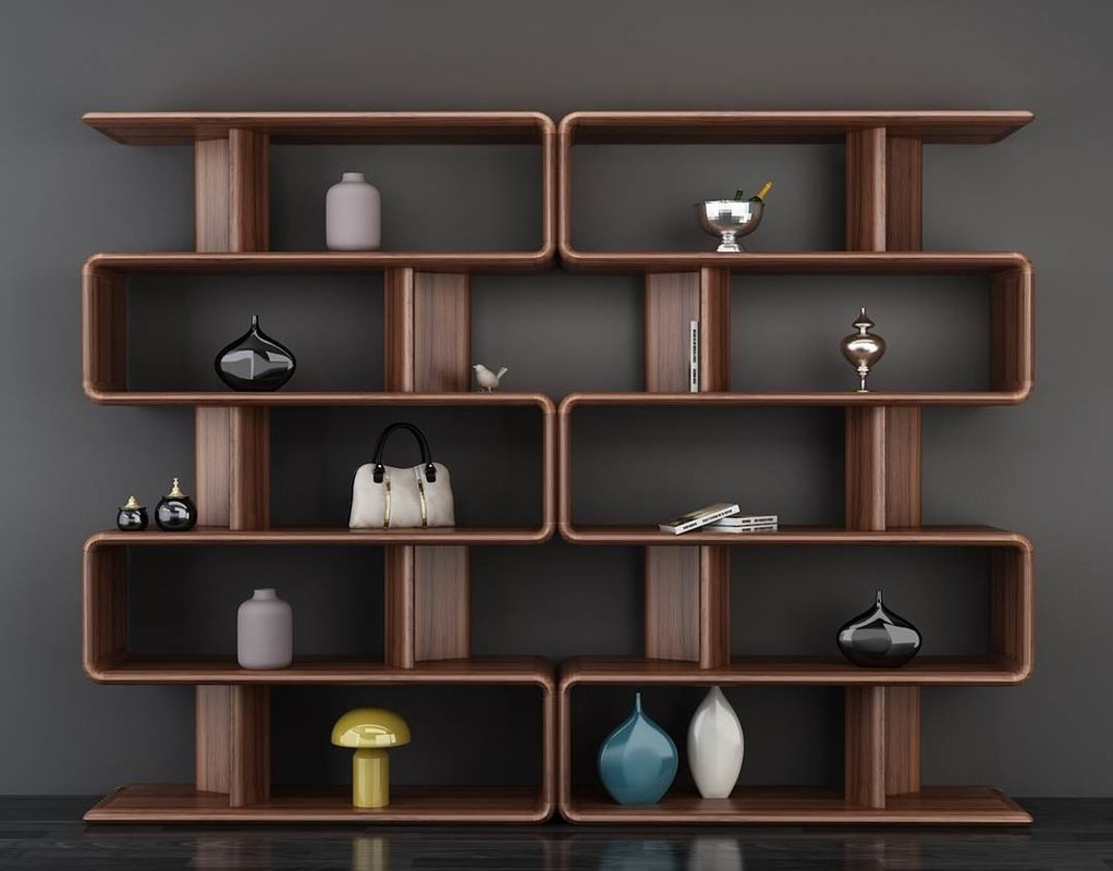 Simple European Solid Wood Furniture / Bookcase Display Cabinet