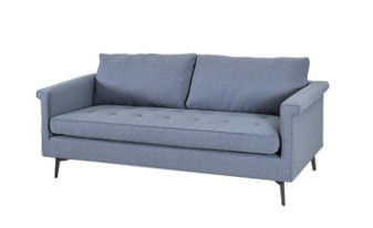 Soft Linen Reclining Sofa , Living Room Furniture Sofa Foam Material